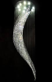 awesome ceiling crystal chandelier modern wave pendant light