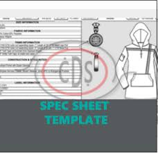 product spec sheet template excel editable specification sheet blank template clothier