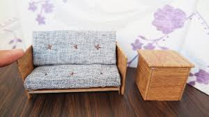 how to build miniature furniture. How To Make Dollhouse Sofa - DIY Miniature Furniture / Easy Crafts Build
