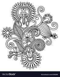 Draw A Design Original Hand Draw Line Art Ornate Flower Design