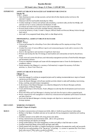 Bank Branch Manager Resume Bank Manager Resume Free Templates