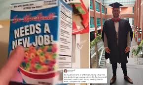 How To Design A Cereal Box Man Displays His Cv On Homemade Cereal Boxes Daily Mail Online