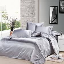 genuine silk soft satin single double queen king size bed quilt intended for silver duvet covers plans 15
