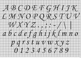 Cross Stitch Letter Patterns