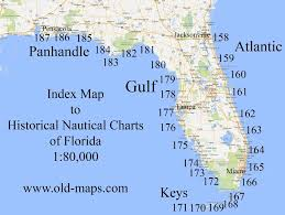 Old Maps Of Florida 80 000 Scale Nautical Charts