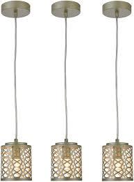 Hallow 3 Light Island Ceiling Light Ferwvew 3 Pack Geometric Metal Pendant Lighting Modern Mini