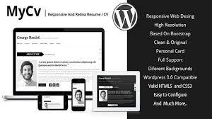 My Cv Responsive And Retina Wordpress Theme Cv Youtube