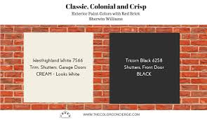best exterior paint colors for red brick homes sw westhighland white 7566 sw tricorn