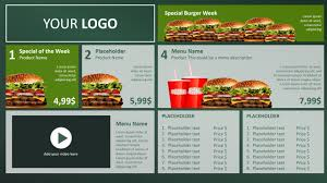 How To Design A Digital Menu Board Digital Menu Board Powerpoint Design Presentationpoint
