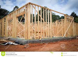 Wood New Home Framing stock image Image of building 54673435