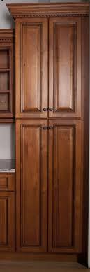 Tall Kitchen Storage Cabinet Dark Brown Wooden Corner Kitchen Pantry Cabinet With Mid Continent