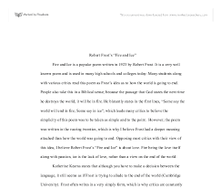 robert frost s fire and ice a level english marked by document image preview
