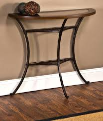metal console tables glass top nice half round accent table with circle mirrored circle glass table