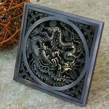 oil rubbed bronze shower drain. Brilliant Oil Retro Oil Rubbed Bronze Bathroom Floor Shower Drain With Art Carved Chinese  Totem Dragon DL58 J For E