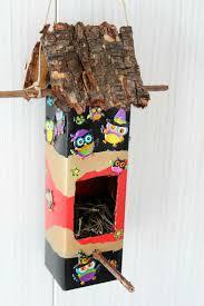 Diy Birdhouse Diy Birdhouse Out Of Milk Carton Dan330