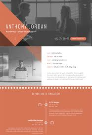 Interactive Resume Template Prismcv Stylish Cv Pdf Examples Most