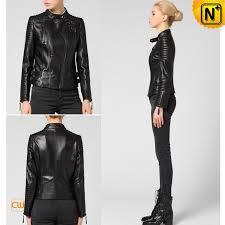 collarless leather moto jacket cw650022 cwmalls com