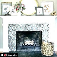 tiled fireplace wall amazing decoration fireplace