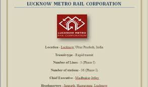 Metro Organization Chart Organization Structure Of Lucknow Metro Rail Corporation