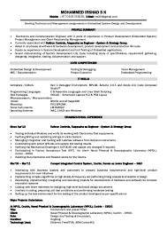 Examples Of Engineering Resumes Mesmerizing Electronics Engineer Resume Foramt