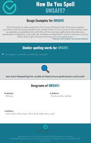 The nato phonetic alphabet, also sometimes referred to as alpha bravo charlie is actually officially called the international radiotelephony spelling alphabet. Correct Spelling For Unsafe Infographic Spellchecker Net