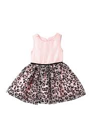 Pippa And Julie Size Chart Pastourelle By Pippa And Julie Shantung Leopard Dress Toddler Little Girls Nordstrom Rack