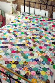 Patchwork quilts were a staple | Vintage Approach | Pinterest ... & Patchwork quilts were a staple. Hexagon Quilt PatternPatchwork ... Adamdwight.com