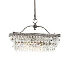 one other image of clarissa crystal drop rectangular chandelier