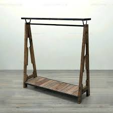 vintage clothing rack william roberts industrial style old wooden clothes antique drying