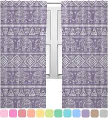 baby elephant curtains 2 panels per set personalized
