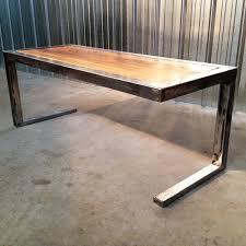 metal and wood furniture. handmade modern rustic coffee table with reclaimed wood slab top and steel frame metal furniture