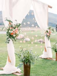 diy fl spring wedding arch decoration ideas