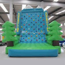 aoqi rock climb equipment inflatable climbing wall mini indoor inflatable sport game rock climbing wall for kid made in guangzhou inflatable climbing wall