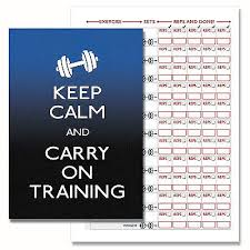 fitness exercise gym log book weight training diary personal trainer book mul 2