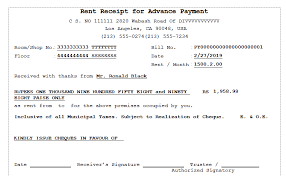 receipt for rent rent receipt for advance payment sage 300 erp tips tricks and