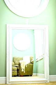 green framed wall mirror distressed wood glass large bathroom mirrors
