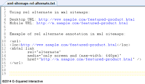rel alternate in xml sitemaps