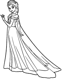 Free Elsa And Olaf Coloring Pages Online Printable Colouring