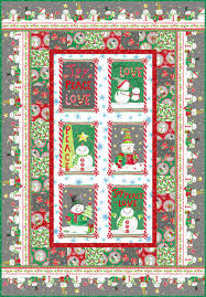 joy peace and love quilt