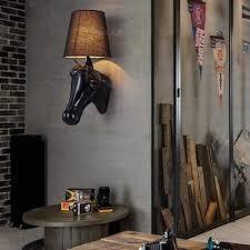 Außergewöhnliche Wandlampe Mit Pferd Kopf Diese Beleuchtung Ist Ein