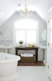 chandeliers chandelier over bathtub soaking tub bathroomfull white attic bathroom ideas with double sink and