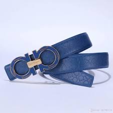 Mens Blue Designer Belts Hot Sell Luxury Hip Buckle Designer Belts For Men Women Litchi Leather Gold Silver Cinto Belt Mens Waistband Gold Waist Belt Garter Belt Sets From