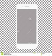 blank transparent background. Fine Blank Download White Phone With Blank Screen On A Transparent Background Stock  Vector  Illustration Of Internet For