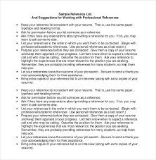 Sample Reference List For Job Reference List Template 18 Free Sample Example Format