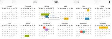 year calender bootstrap year calendar