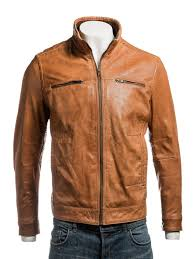 Light Brown Leather Jacket Mens Mens Tan Leather Jacket
