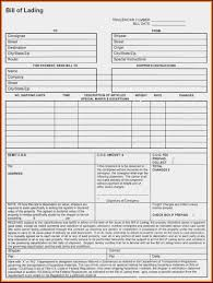 Free Bill Of Lading Template Canada Infiscale Designs