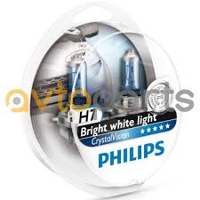 Комплект <b>ламп</b> H7 <b>PHiLiPS Crystal</b> Vision 12 В, 4300 K + 2 x W5W ...