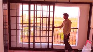 Hall Window Grill Design Grill Glass Sliding Door Youtube