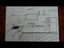 kitchen 1 point perspective. how to draw a kitchen one point perspective 1